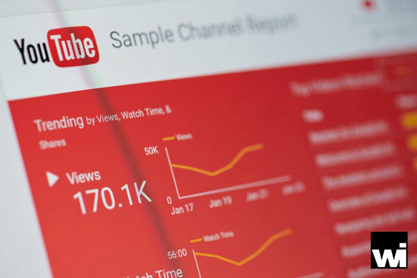 Digital marketing and social media marketing analytics for YouTube.